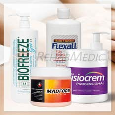 Pack cremas musculares (4): Flexall 480g+ Biofreeze 473g+ Cremy Gel 500g+ Fisiocrem1L