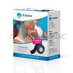 Kinesiology Tape K-Active 5 cm x 5 m Negro - Caja (6)