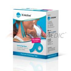 Kinesiology Tape K-Active 5 cm x 5 m Azul - Caja (6)