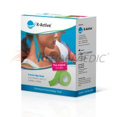 Kinesiology Tape K-Active 5 cm x 5 m Verde - Caja (6)