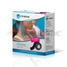 Kinesiology Tape K-Active  5 cm x 17 m Negro