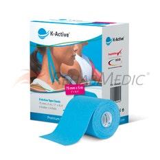 Kinesiology Tape K-Active 7,5 cm x 5 m Azul (4)