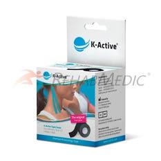 Kinesiology Tape K-Active 5 cm x 5 m Negro (1)