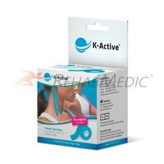 Kinesiology Tape K-Active 5 cm x 5 m Azul (1)