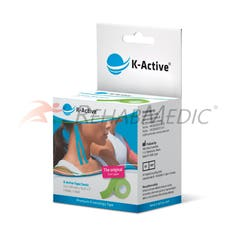 Kinesiology Tape K-Active 5 cm x 5 m Verde (1)