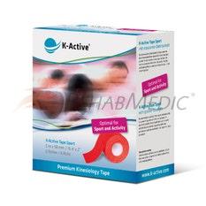 K-Active Sport Tape 5 cm x 5 m Rojo