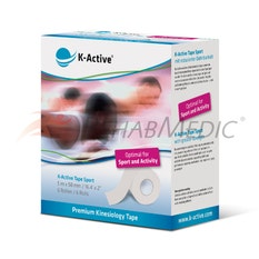 K-Active Sport Tape 5 cm x 5 m Blanco