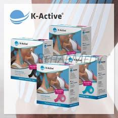 Pack 4ªud al 50% K-Active Kinesiology Tape(4ud,17m)