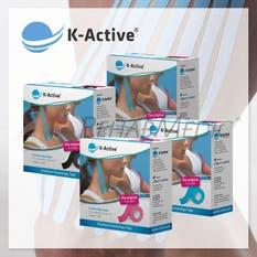 Pack 4ªcaja al 50% K-Active Kinesiology Tape Sport (24ud,5m)