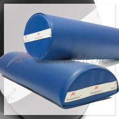 Pack cojín cilindro + cojín medio cilindro - Azul