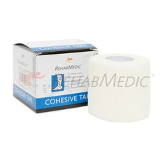 RehabMedic Cohesive Tape Blanco 5cm (1)