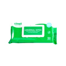 Clinell Universal Wipes (50) CWAB50 Toallitas desinfectantes superficies